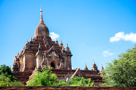 tabernacle: Shwegugyi ancient temple in old Bagan, Myanma. Stock Photo