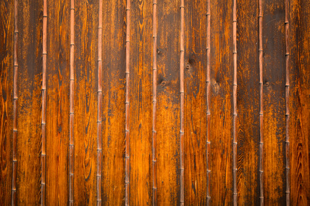 Wood and bamboo background.