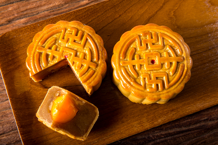 Moon cakes - food for Chinese mid-autumn festival
