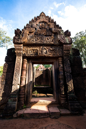 Backside of Banteay Srei temple, Siem Reap complex, Cambodia.