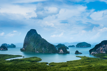 The beautiful islands at Pang Nga province, southern Thailand. 免版税图像