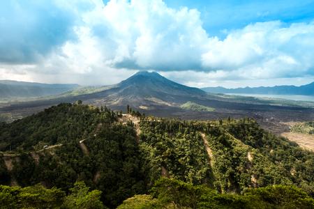 Kintamani volcano in Bali, Indonesia.