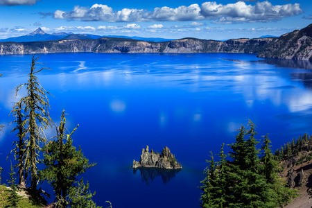 crater lake: Crater Lake, Oregon Phantom Ship Stock Photo
