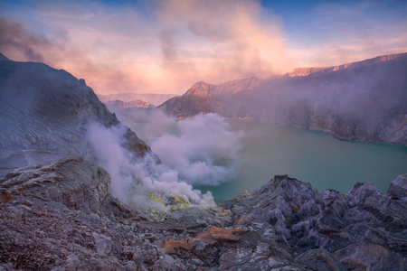 Kawah Ijen Volcano. The Ijen volcano complex is a group of stratovolcanoes in the Banyuwangi Regency of East Java, Indonesia.