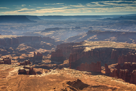 rock formation: Grand view point overlook in the Monument Basin in Canyonlands, Utah, USA