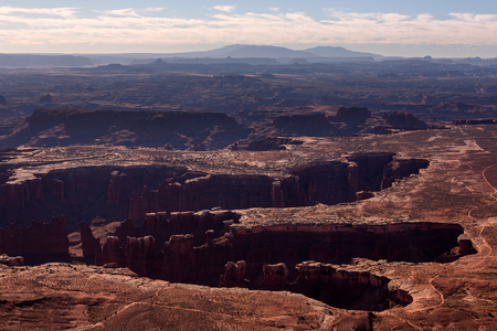 Grand view point overlook in the Monument Basin in Canyonlands, Utah, USA