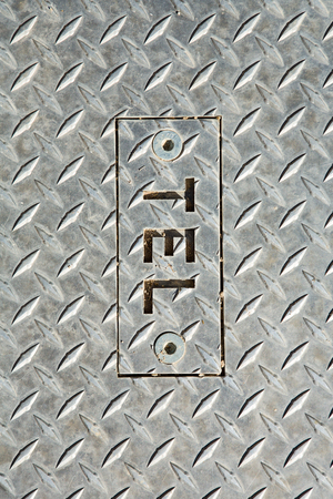 diamond plate: Metal diamond plate pattern and background seamless, grunge diamond metal plate with screw for open Stock Photo