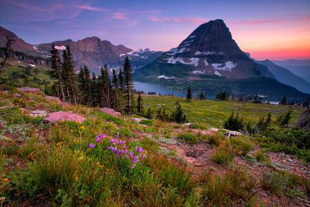 Hidden Lake Trail, Logan Pass, Glacier National Park, Montana, Verenigde Staten