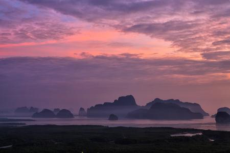 View of Phang Nga bay from Samet Nangshe viewpoint, Thailand