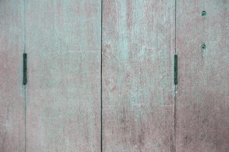 old door hinges on the wooden door vintage styles