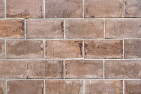 Brown Square brick block wall or floor background and texture