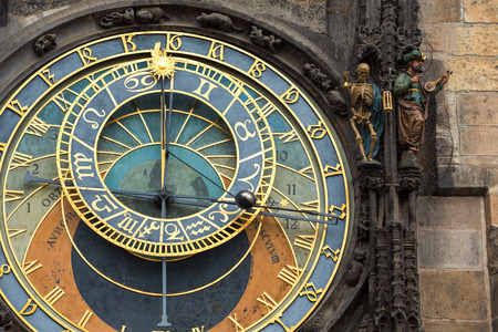 Close up Historic Prague Astronomical Clock, Czech Republic