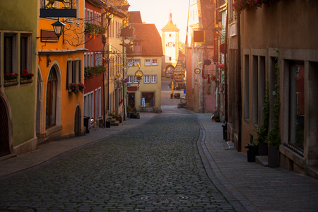 Beautiful view of the historic town of Rothenburg ob der Tauber, Franconia, Bavaria, Germany Stock fotó