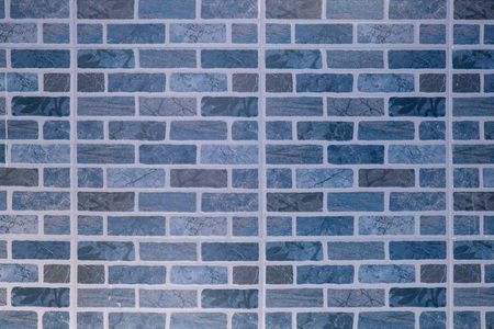 Blue Square brick block wall or floor background and texture