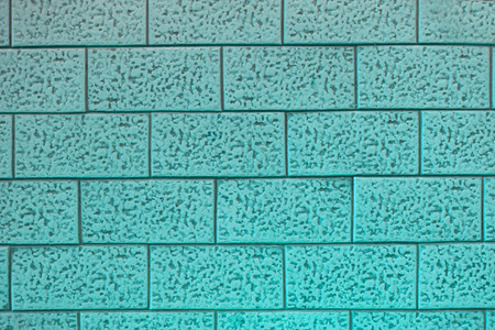 blue ceramic brick tile wall background and texture