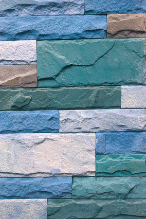 Part of the stone wall. blue brick wall background texture.