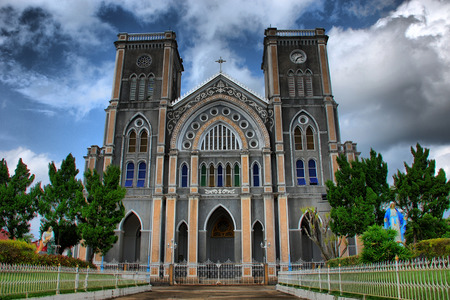 Cathedral of the Immaculate Conception HDR with little grain, Chanthaburi, Thailand Stock Photo