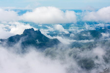 Sea of Fog at Phu Thap Boek, Phetchabun Province, Thailand
