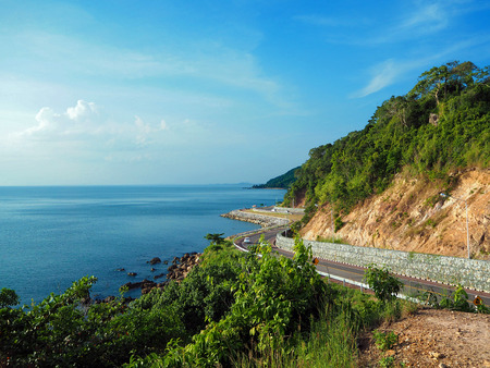 Viewpoint of Noen Nang Phaya Kung Krabaen Bay in Chanthaburi Stock Photo