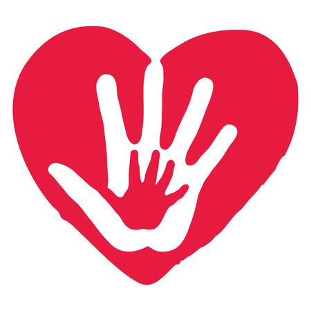 Hands Inside Big Red Heart