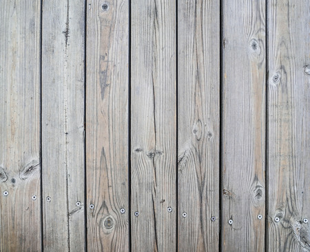 Boards Unpolished Wooden With Screws Stock Photo