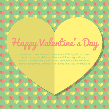 Template Valentine Day Greeting Card Design