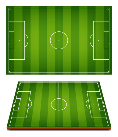 vector soccer fields striped grass background