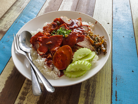 Red BBQ Pork Rice