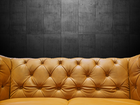 Segment Leather Sofa Upholstery With Copyspace photo