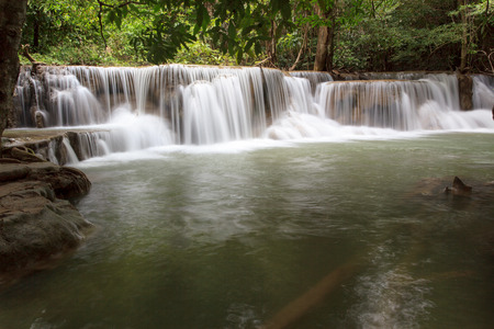 Huay Mae Kamin Waterfall in Khuean Srinagarindra National Park, Kanchanaburi Province. Thailand.