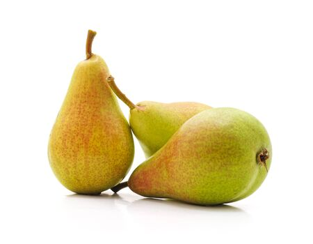 Three ripe pears isolated on a white background. Reklamní fotografie
