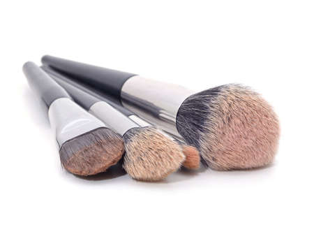 Set of makeup bones isolated on a white background. 免版税图像