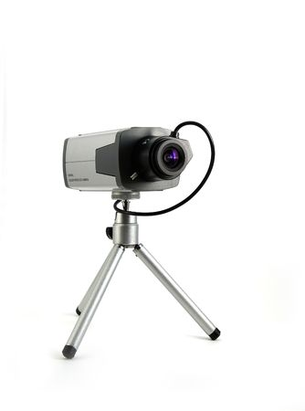 Security camera isolated on white background Stock Photo - 3873016