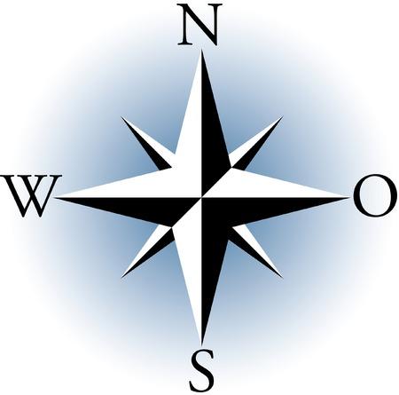Compass. A vector illustration.