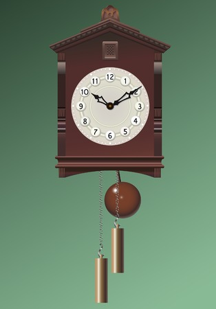 Old clock. A vector illustration.