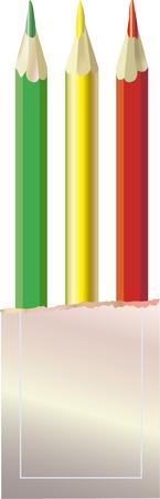 Color pencils. A vector illustration.