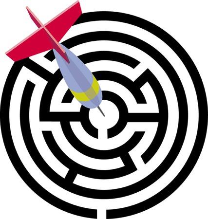 the labirint. a vector illustration
