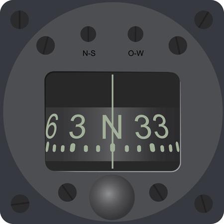 the hidrocompass. A vector illustration. Illustration