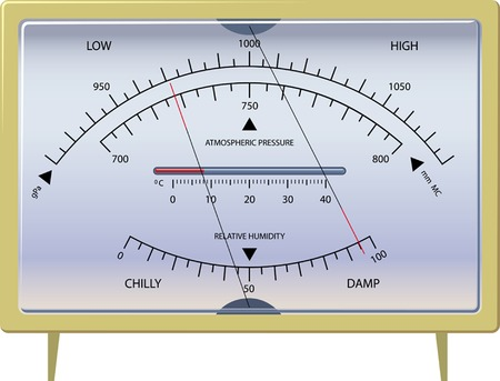 barometer. the device for measurement of a condition of weather. vector. illustration.