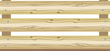 boîte. bois. le contenant, l'emballage. une illustration vectorielle.