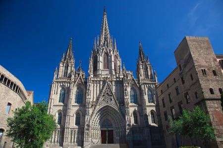 gotico: Catedral de la Cruz y Santa Eulalia Santa est� en el coraz�n del Barrio G�tico Barrio G�tico de Barcelona, ??Espa�a