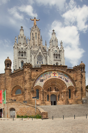 Expiatory Church of the Sacred Heart of Jesus  Temple Expiatori del Sagrat Cor  - Roman Catholic church and minor basilica located on the summit of Mount Tibidabo in Barcelona, Catalonia, Spain   photo