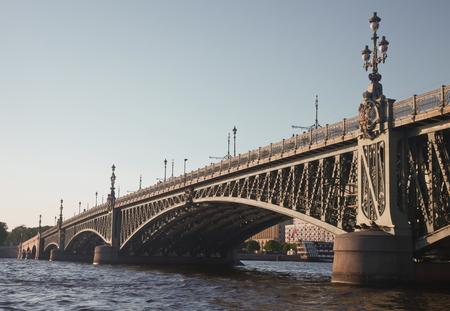 st  petersburg: St. Petersburg. Troitsky bridge Stock Photo