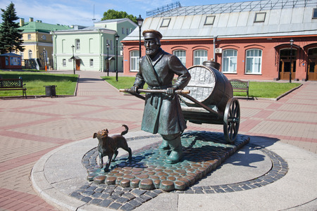 st  petersburg: St. Petersburg. A monument to the St. Petersburg water carrier Stock Photo