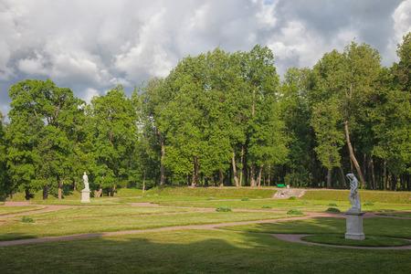 Gatchina. Leningrad region. Park ensemble in Gatchina. Stock Photo
