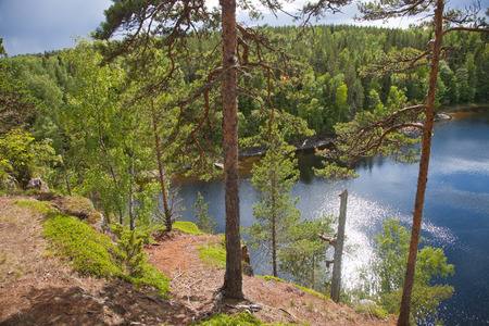 monastery nature: Valaam. View from the mountain Eleon