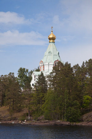 Valaam. Nikolsky monastery. Nicholas The Wonderworker's church on Nikolsky to a monastery.