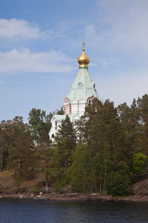 Valaam. Nikolsky monastery. Nicholas The Wonderworker's church on Nikolsky to a monastery.