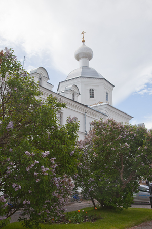 mans: Valaam. Spaso-Preobrazhensky Valaam stavropigialny mans Monastery. Stock Photo