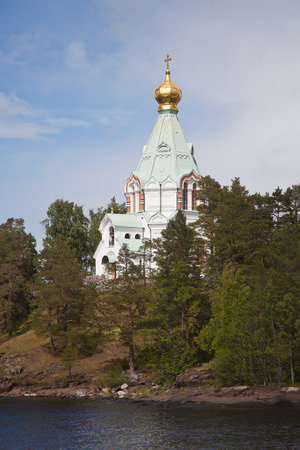 Valaam. Nikolsky monastery. Nicholas The Wonderworkers church on Nikolsky to a monastery.